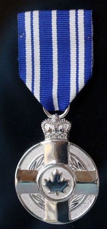 Meritorious Service Medal – Presented by the Governor General of Canada