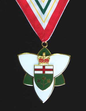 Order of Ontario — Presented by the Lieutenant Governor of Ontario